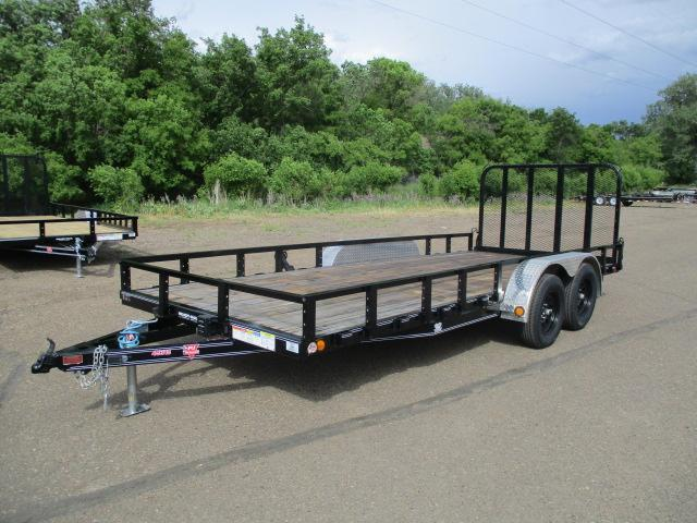 "2020 PJ Trailers 18'x83"" Tndm Axle Channel Utility Trailer"