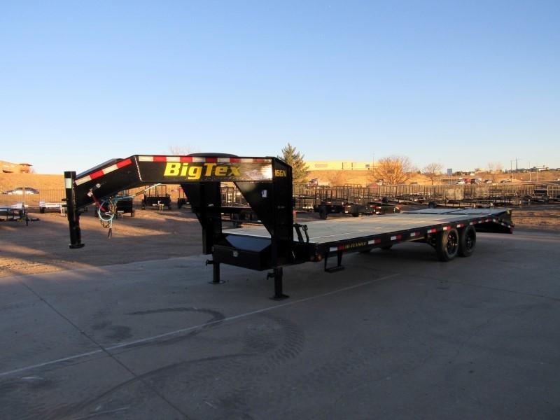 2022 Big Tex Trailers 16GN-20BK+5MR Flatbed Trailer
