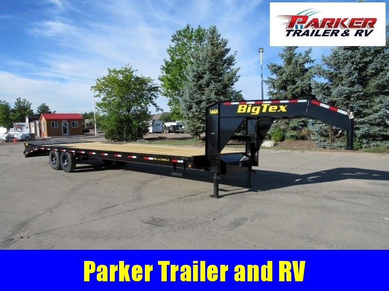 2021 Big Tex Trailers 14GN-25BK+5MR Flatbed Trailer