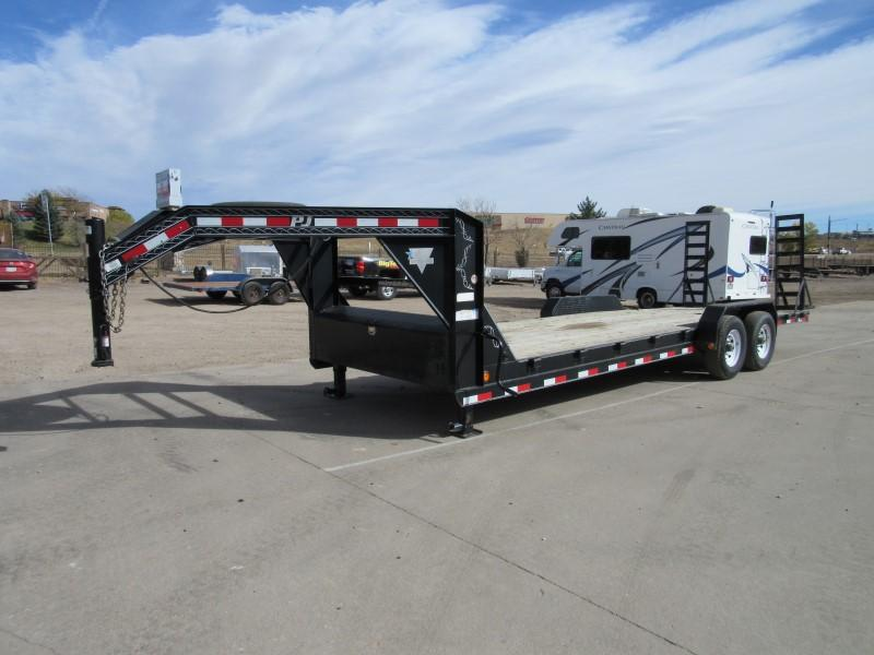 2013 PJ Trailers 24 GN Flatbed Trailer
