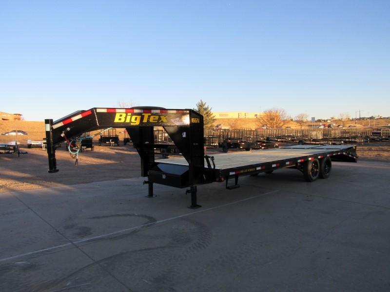 2021 Big Tex Trailers 16GN-20BK+5MR Flatbed Trailer