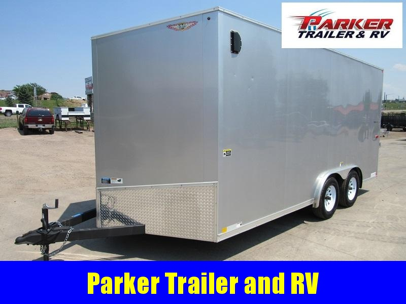 2017 H and H Trailer 8X16TA2 Enclosed Cargo Trailer