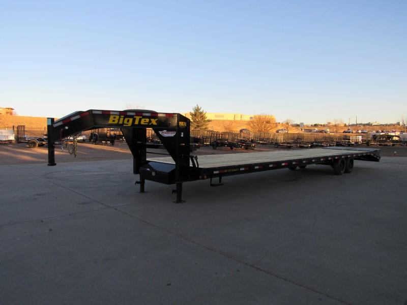 2021 Big Tex Trailers 16GN-35BK+5MR Flatbed Trailer