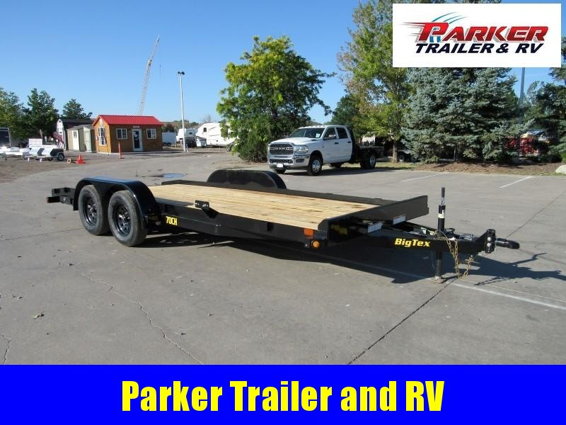 2021 Big Tex Trailers 70CH-18BKDT2B Flatbed Trailer