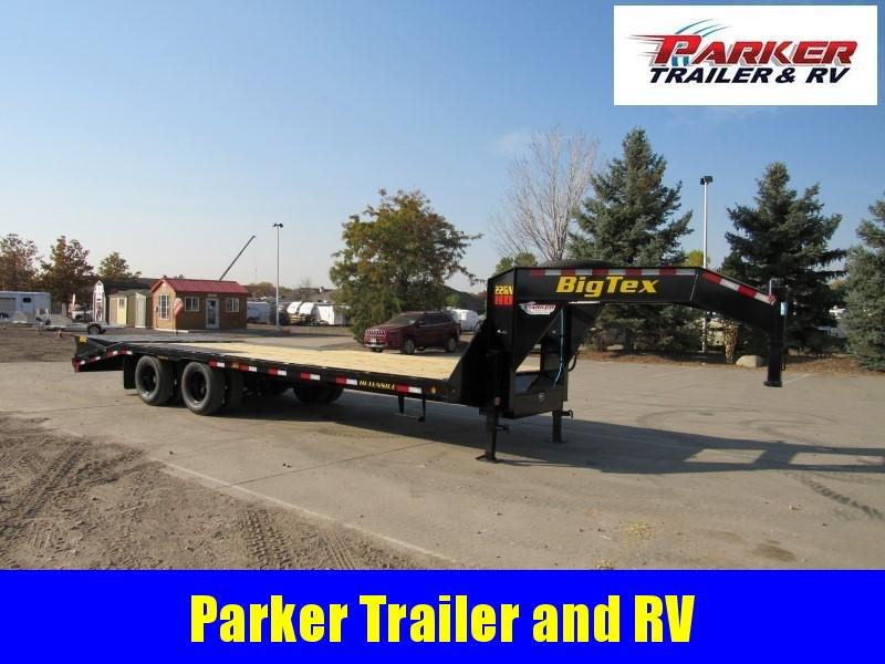 2021 Big Tex Trailers 22GN-20BK+5MR Flatbed Trailer