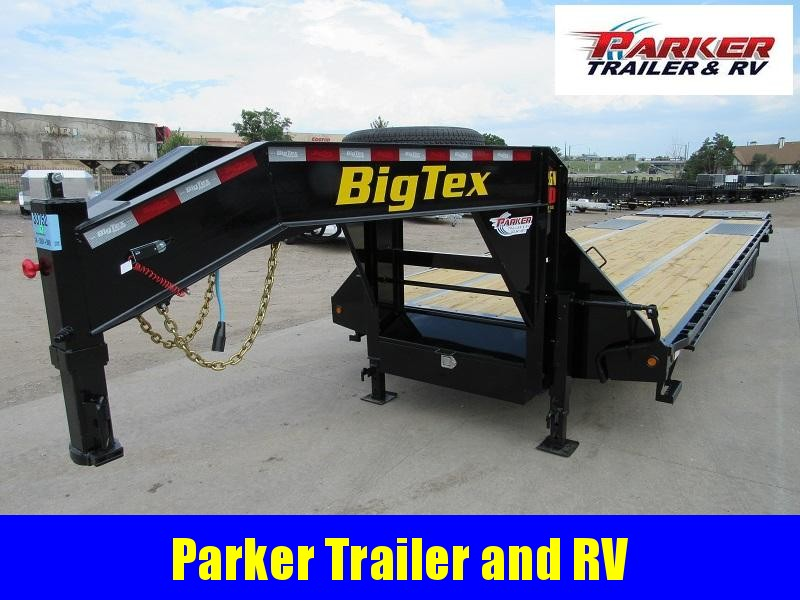 2022 Big Tex Trailers 22GN-30BK+5MR Flatbed Trailer