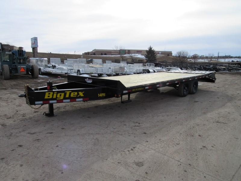 2020 Big Tex Trailers 14PH-20BK+5MR Flatbed Trailer