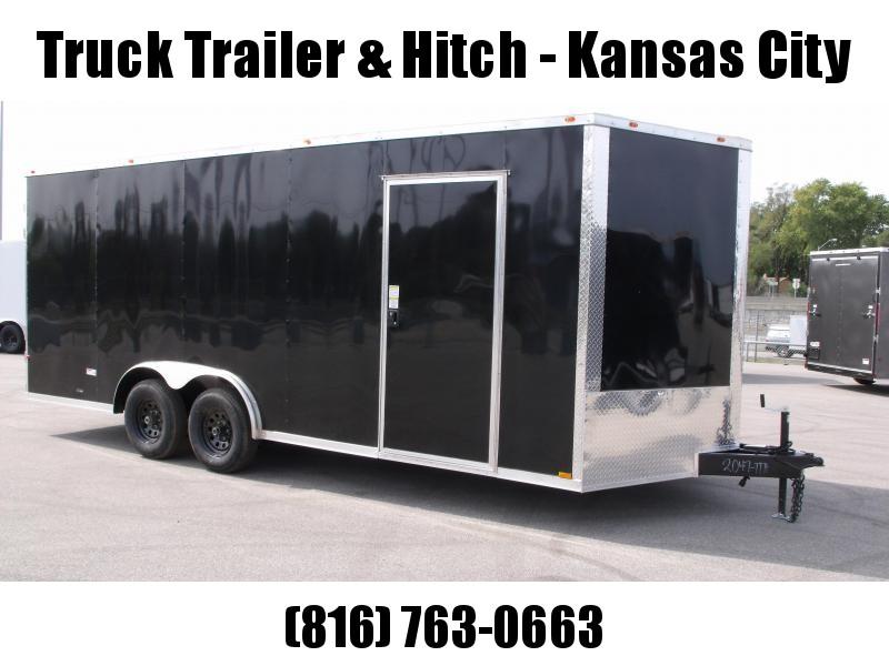 Enclosed Trailer 8.5 X 20  BARN DOOR 7' Interior Charcoal In Color Ramp Door  9990  GVWR  Gutter Machine Trailer