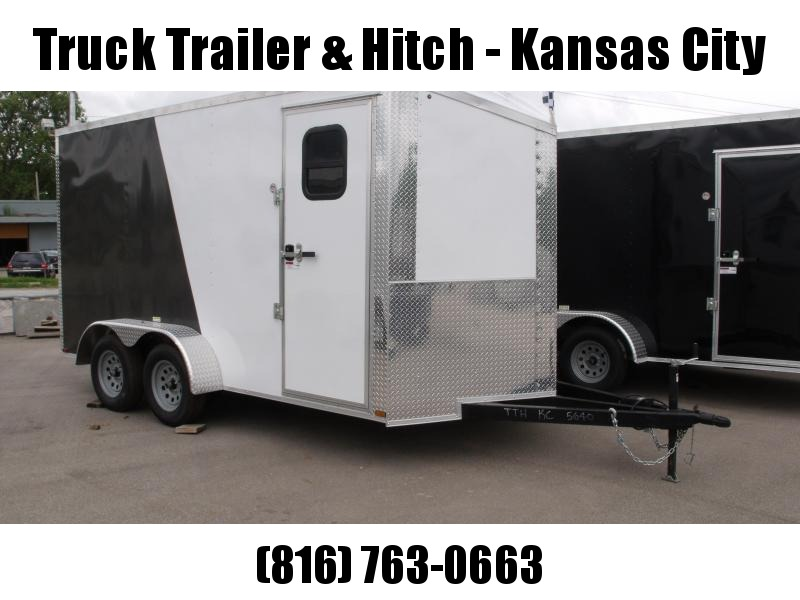 Enclosed Trailer Wedge Nose  7 X 14 Ramp 7' Interior Height   Two/Tone In Color White Front/Charcoal Rear  ALL Tube Construction