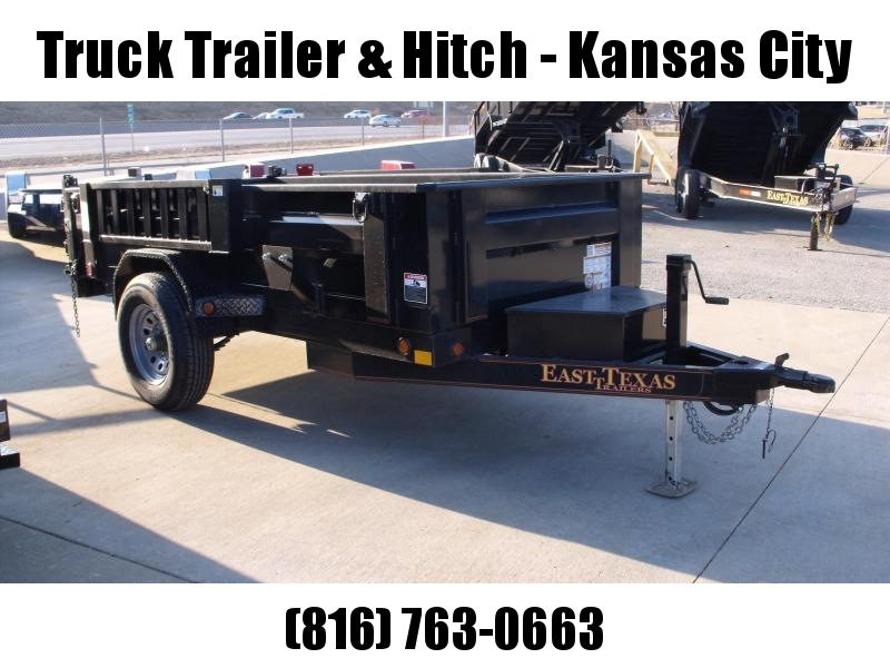 Dump Trailer 5 X 10  Spreader Gate 6000 GVW  Electric Brakes Wheel Brakes Stall Dump Trailer
