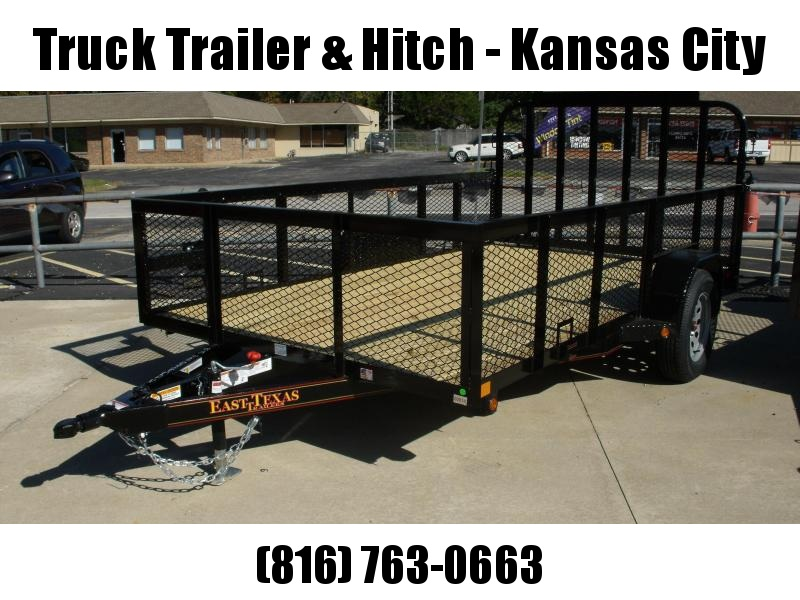 High-Wall Landscape Trailer 6 X 12 Spring Assisted Gate  Black  In Color