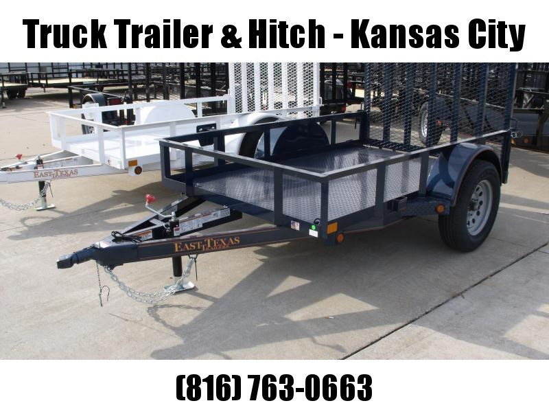 Premium Utility Trailer  5 X 8  Tube Gate Dk Blue Metallic  In Color 2990 Axle