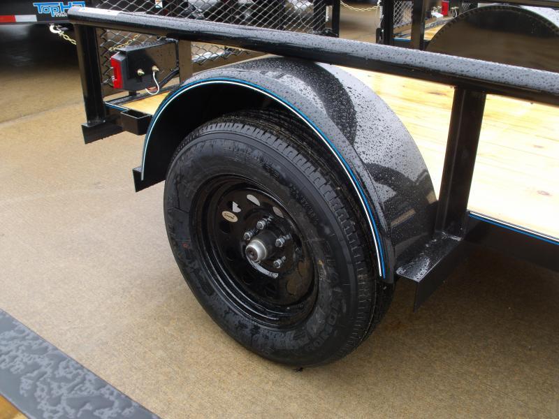 Utility Trailer 5 X 8 Ramp Pipe Rail Top
