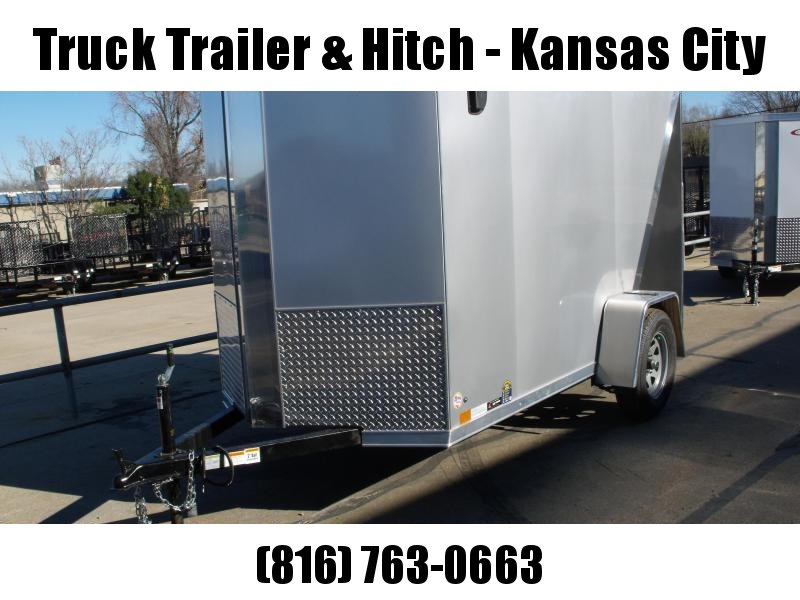 "Enclosed Trailer 5 x 10 Ramp 5' 6"" Interior Two Tone  Silver Mist Frt/ Charcoal Rear"