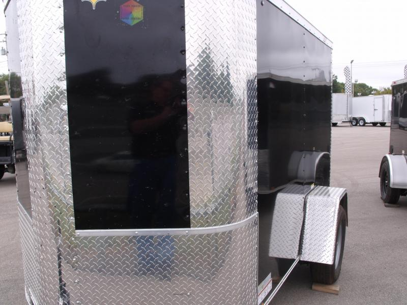 """Trailer Enclosed  5 X 8 Ramp 5' 6"""" Height   Black In Color"""