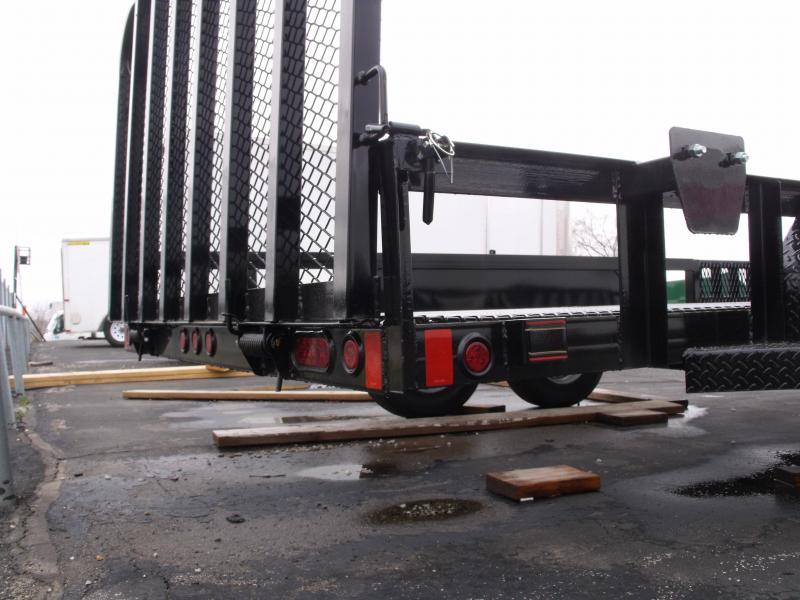 ATV Trailer Utility Trailer 83 X 16 Mesh Floor Number 6 Very Stiff  Rear Square Tubular gate 7000 GVWR Black  In Color