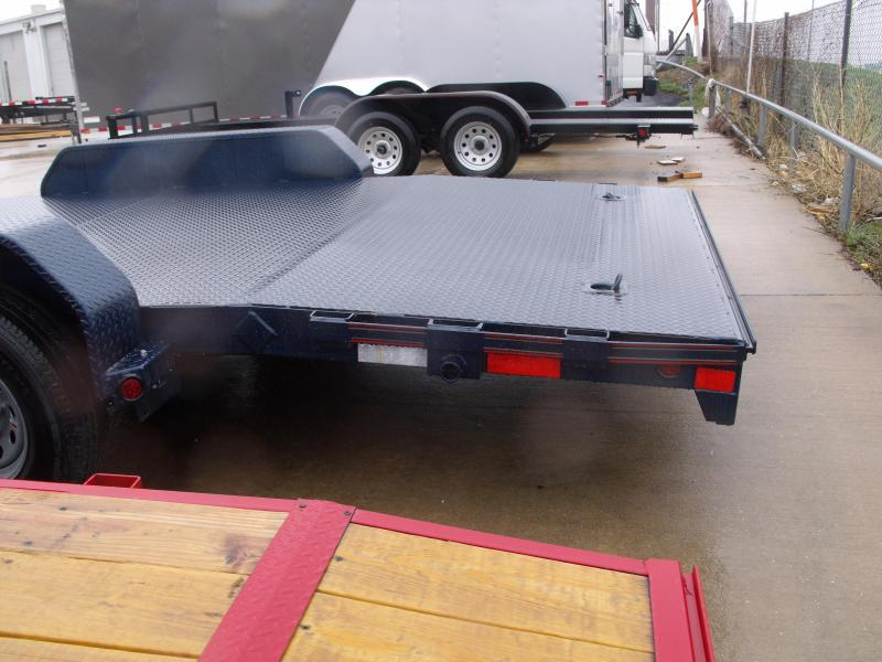 83 X 20 Dove  Metal Deck Car Hauler 12000 GVW 4 WL Brakes Ramps Midnight Blue   In Color