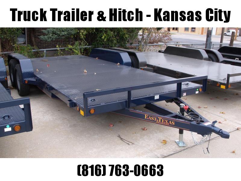 Car Hauler 83 X 18 Dove  Metal Deck Car Hauler 7000 GVW 4 WL Brakes Ramps Metallic Blue  In Color