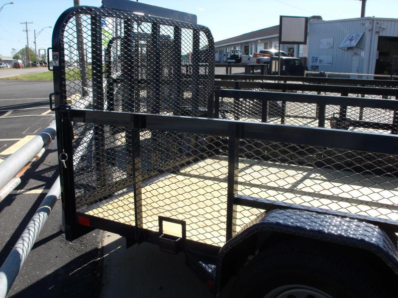 High-Wall Landscape Trailer 77 X 12 Spring Assisted Gate Midnight Blue In Color