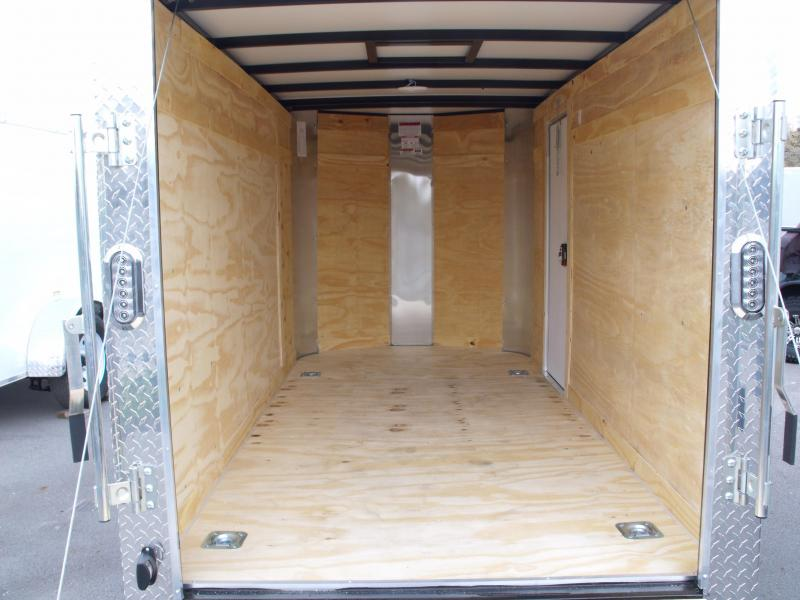 Enclosed Trailer  5 X 10 Ramp  Height Two Tone Silver Frt/Charcoal Rear