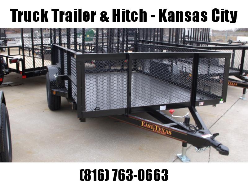 High-Wall Landscape Trailer 77 X 10 Metal Deck Spring Assisted Gate  Black  In Color