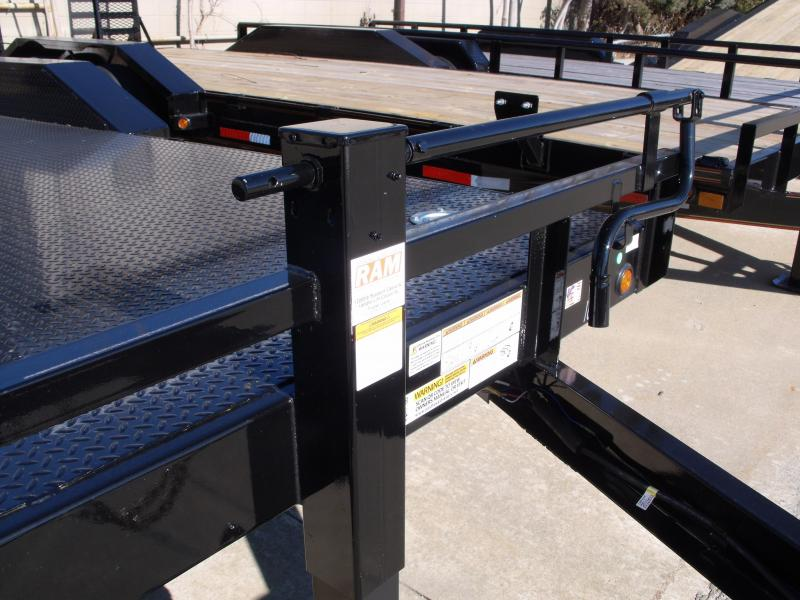"Equipment Trailer 83 X 20  Steel Deck """" Drive Over Fenders""""  14000 GVW HD Boxed Ramps"