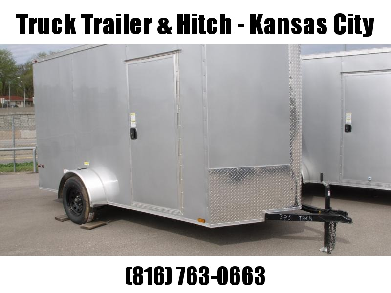 "Enclosed Trailer 6 X 12 Ramp  6' 3""   Interior Silver Mist  In Color  All Tube Construction"