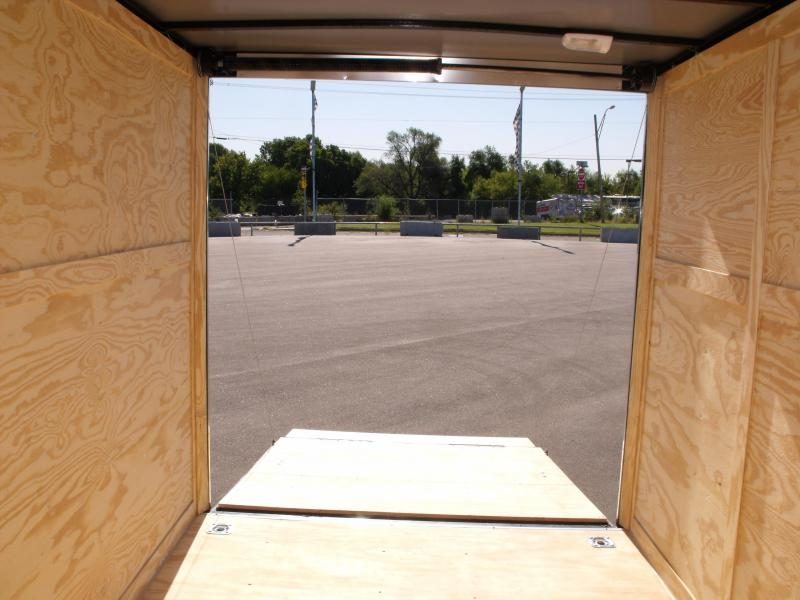 Enclosed Trailer 7 X 12 Ramp  7'  Interior Electric Brakes 3500 LB Axle Two Tone Charcoal Frt/ Silver Mist Rear   In Color  Tube Construction