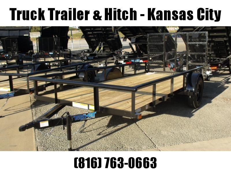 "Utility Trailer 77"" x 14    Pipe Rail Top  Rear   Gate 2990 Axle"