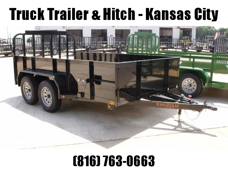 High-Wall  Trailer Landscape Trailer 83 X 12  Solid Side  Ramp      7000 GVW