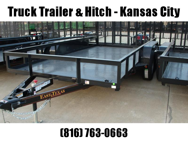 Utility Trailer  83 X 14  Metal Deck 4 WL Brakes With Tube Ramp    7000 GVW Brakes