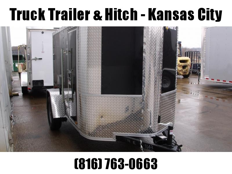 Enclosed Trailer  5 X 8 Ramp 5' Height Black  In Color