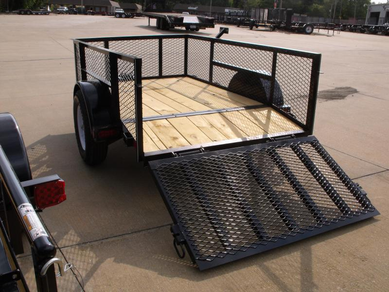 """Utility Trailer 5 X 8 High-Wall Dove Tail 24 """" Mesh Sides  Dove Tail 2990 Axle"""