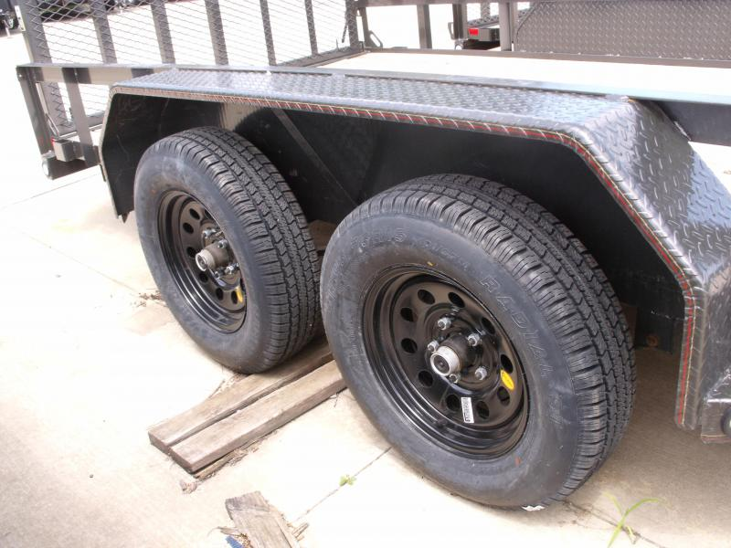 Utility Trailer ATV Trailer 77 X 16  4 Axle  Brakes 7000 GVW