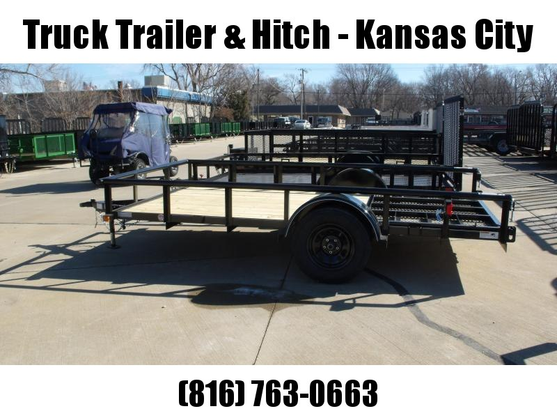 Utility Trailer 83 x 12 Pipe Rail Top Spring Asst Frt & Rear Folding  Gate 2990 Axle