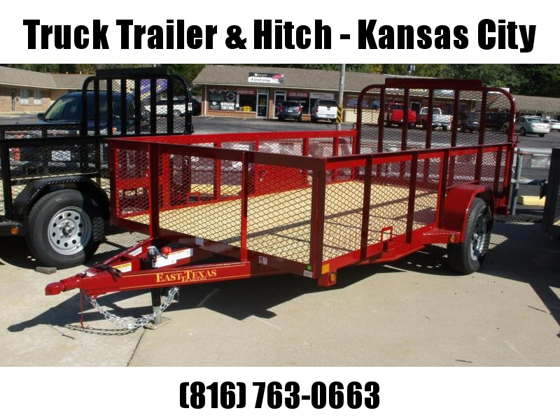 High-Wall Landscape Trailer 77 X 12 Spring Assisted Gate  Red  In Color