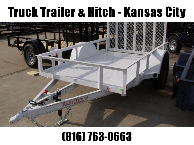 Premium Utility Trailer  5 X 8  Tube Gate White In Color 2990 Axle