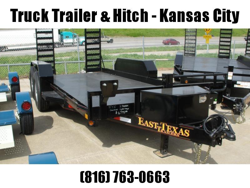 "Bob Cat  Trailer Low Profile  81 X 16 Steel Deck """"  14000 GVW HD Combo Ramps With #6 Mesh HD Fenders"