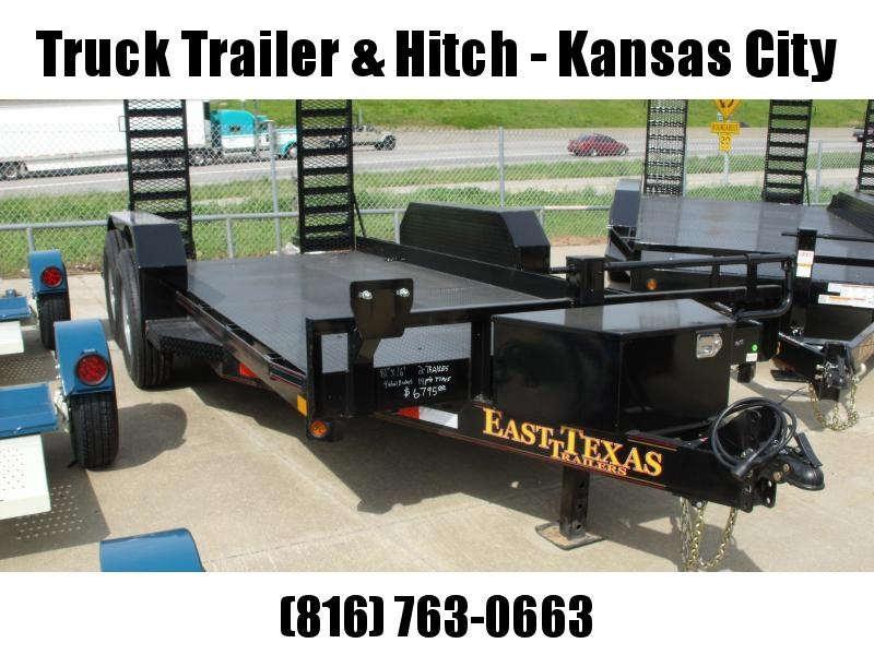 "Bob Cat  Trailer Low Profile  81 X 16 Steel Deck """"  14000 GVW HD Combo Ramps With #6 Mesh HD Fenders"