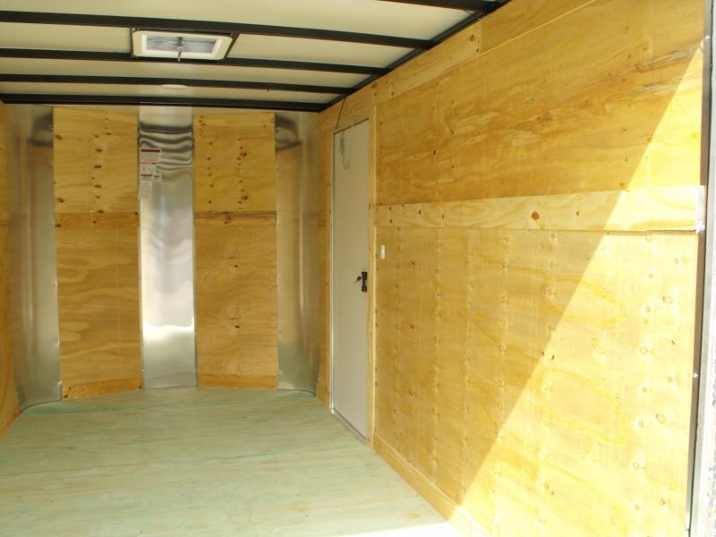 "Enclosed Trailer 7 X 12 Ramp 6' 6"" Height  7000 GVW   Color White Tube Construction"