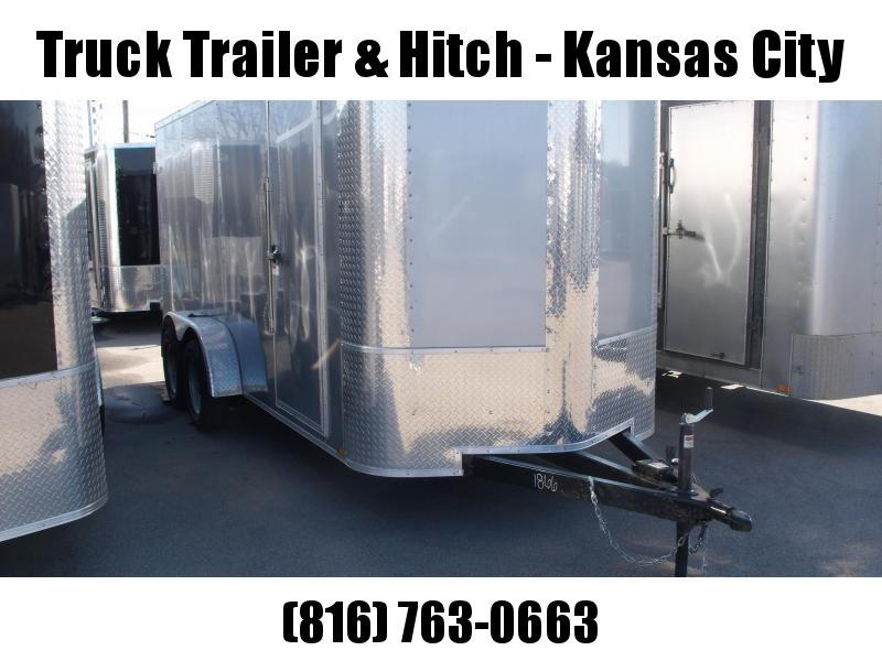 """Enclosed Trailer 6 X 16  BARN DOORS   6' 6""""' Interior Height   Silver Mist In Color ALL Tube Construction"""