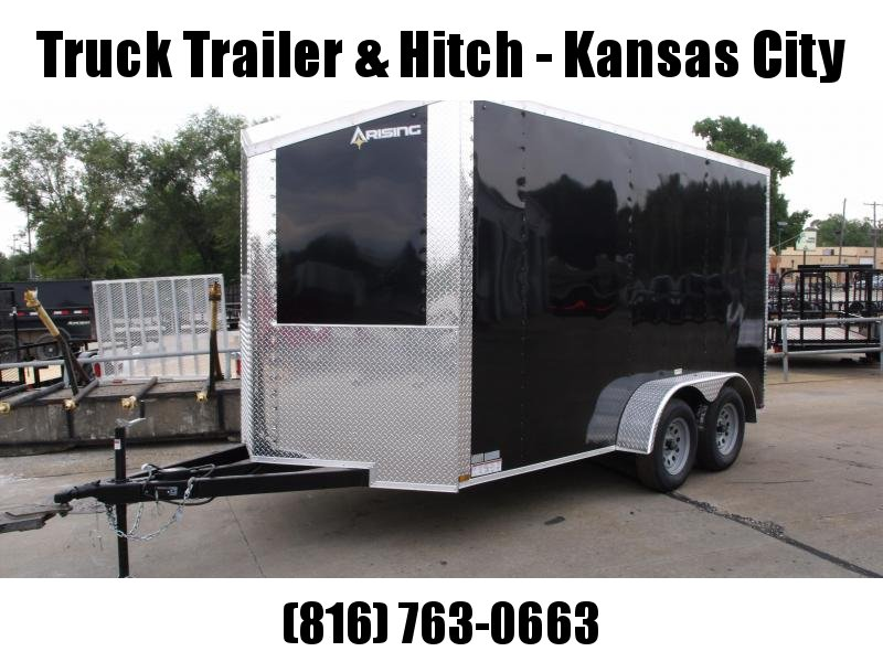 Enclosed Trailer Wedge Nose  7 X 14 Ramp 7' Interior Height   Black  In Color ALL Tube Construction