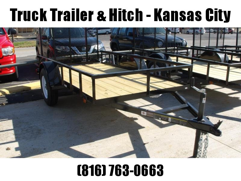 Utility Trailer 5 X 10 Wood Deck  Trailer With  Ramp 2990 Axle