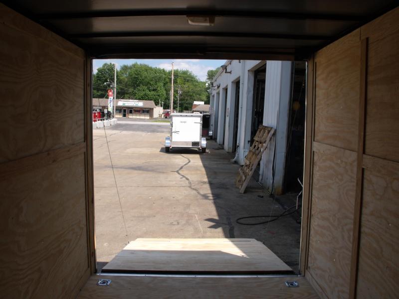 Enclosed Trailer  7 x 12 Ramp 7' Interior CHARCOAL  In Color Ramp Door  7000 GVWR