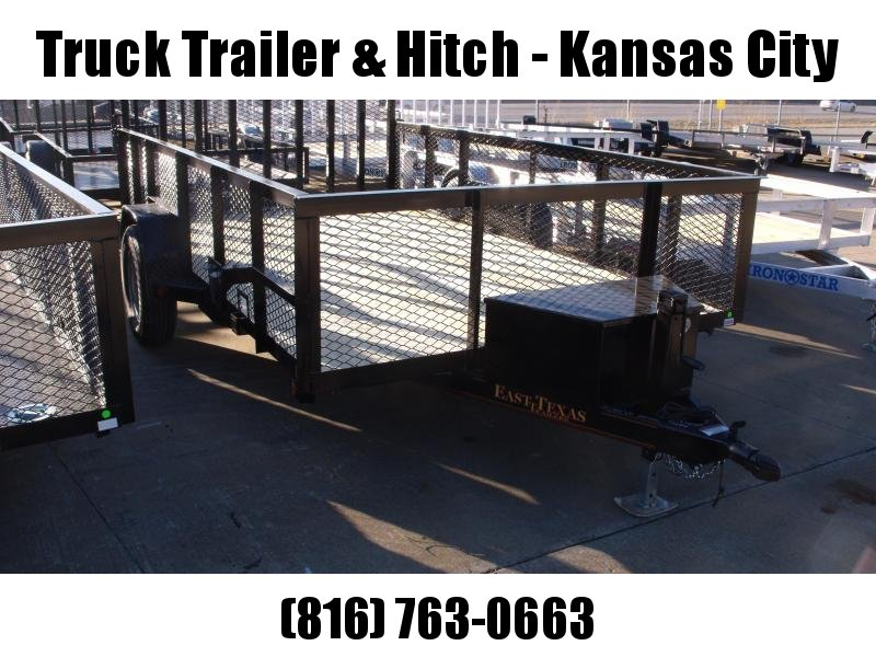 High-Wall Landscape Trailer 83 X 12 Spring Assisted Gate  Tool Box