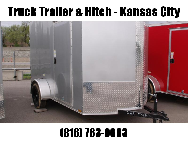 "Enclosed Trailer 6 X 10 Ramp  81""   Interior Silver Mist  In Color  All Tube Construction A Couple Of Dents Saves Hundreds"