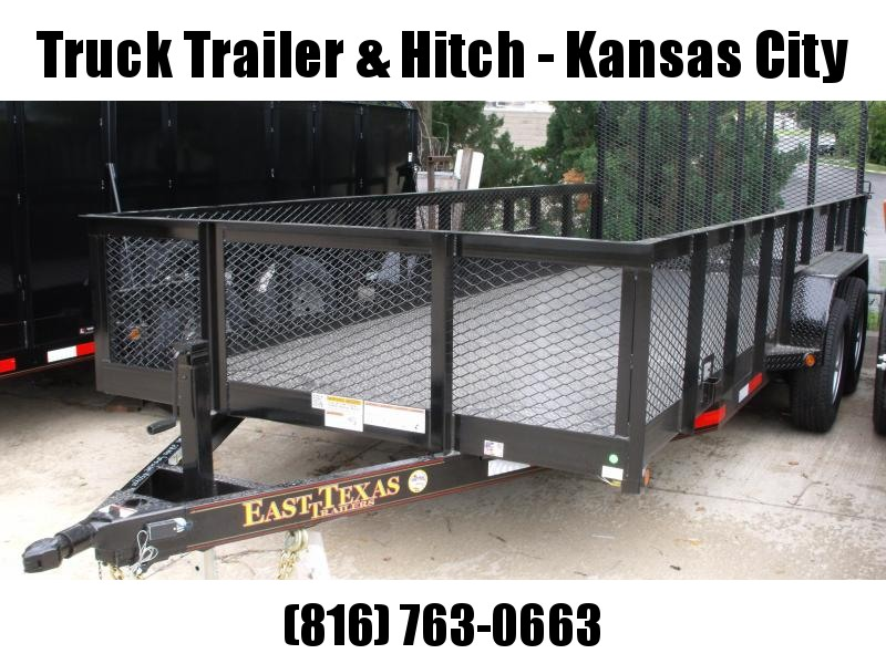 High-Wall  Metal Trailer Landscape Trailer 83 X 16  Ramp 12000 GVW