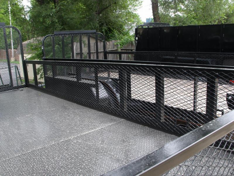 High-Wall  Metal Trailer Landscape Trailer 83 X 16  Ramp 12000 GVW