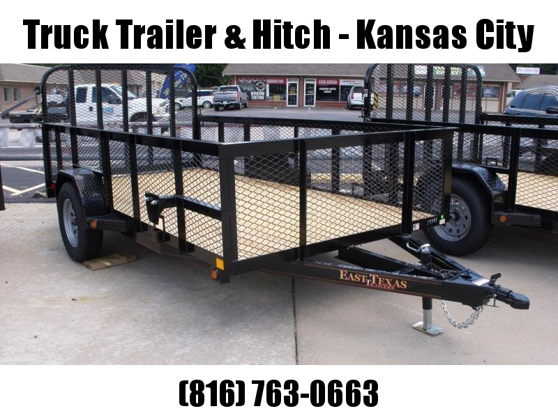 High-Wall Trailer 72 x 12  HD Tube Ramp  Mesh Sides  2990 Axle