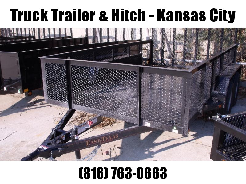 High-Wall  Metal Trailer Landscape Trailer 83 X 12  Ramp 7000 GVW